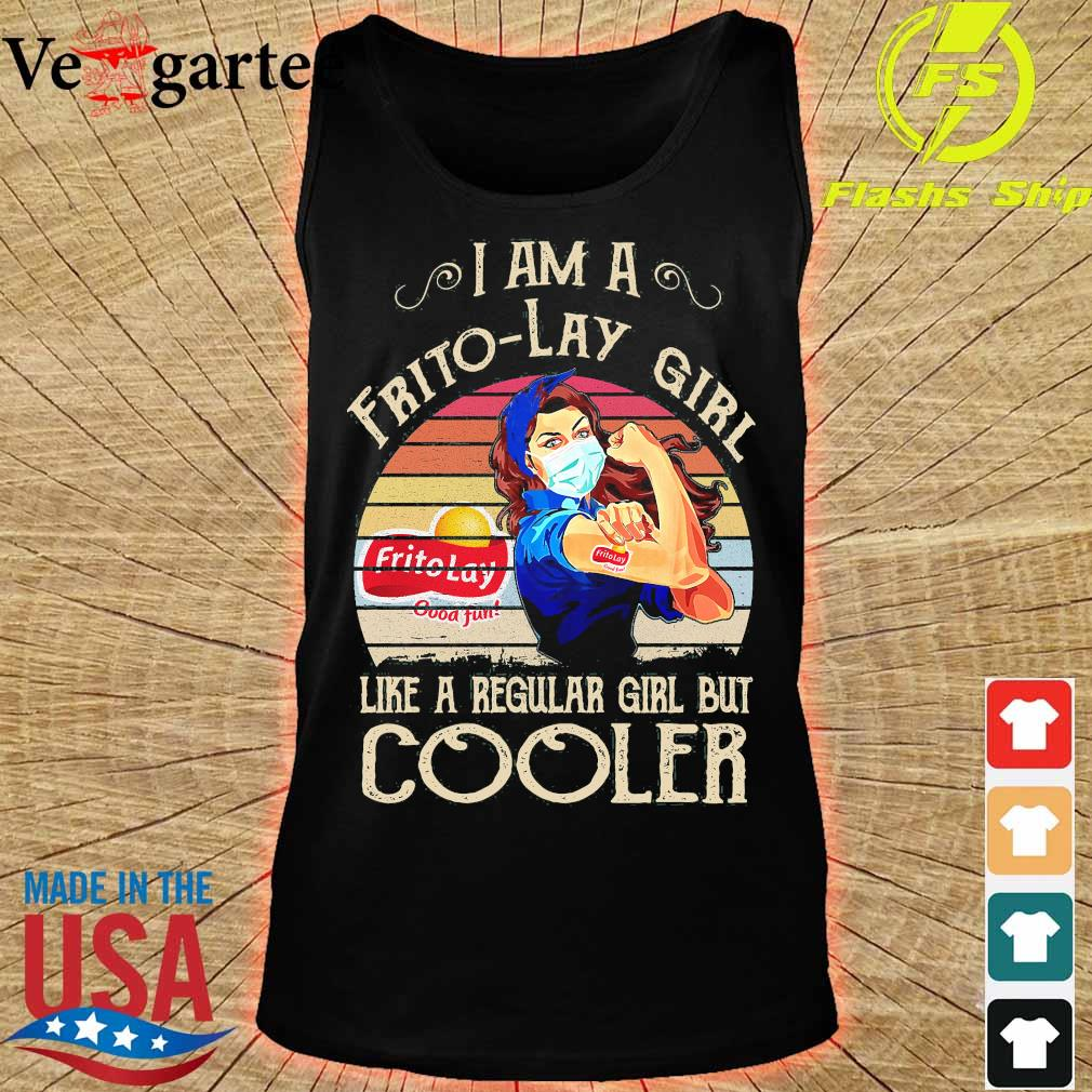 Strong girl mask I am a Frito-Lay girl like a regular girl but cooler vintage s tank top