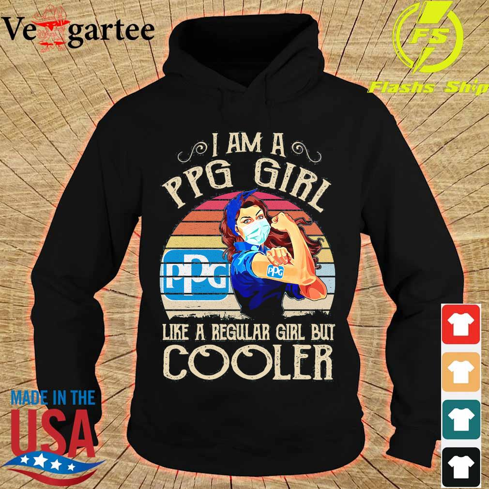 Strong girl mask I am a PPG girl like a regular girl but cooler vintage s hoodie