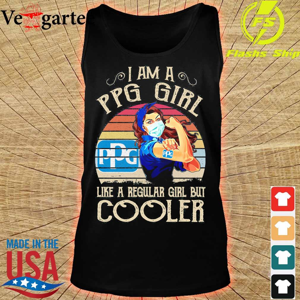 Strong girl mask I am a PPG girl like a regular girl but cooler vintage s tank top