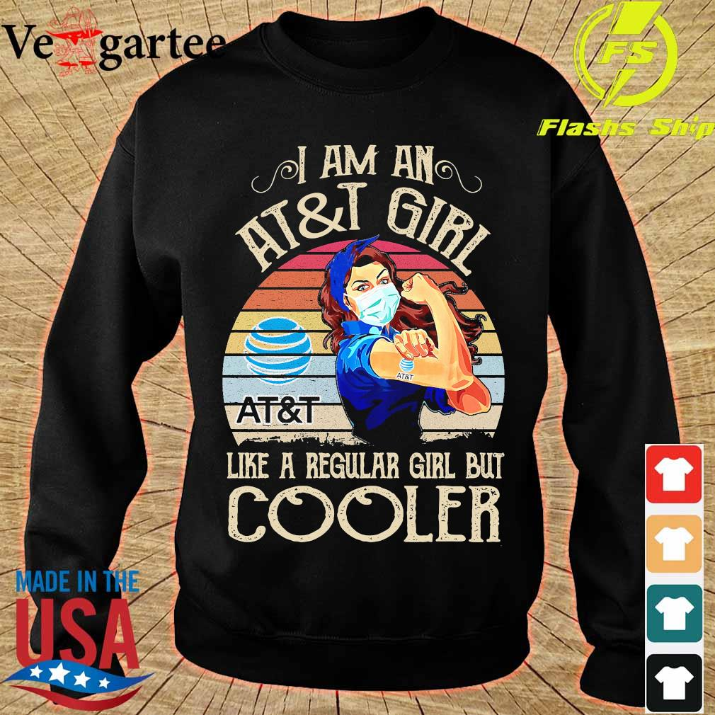 Strong girl mask I am an AT and T girl like a regular girl but cooler vintage s sweater