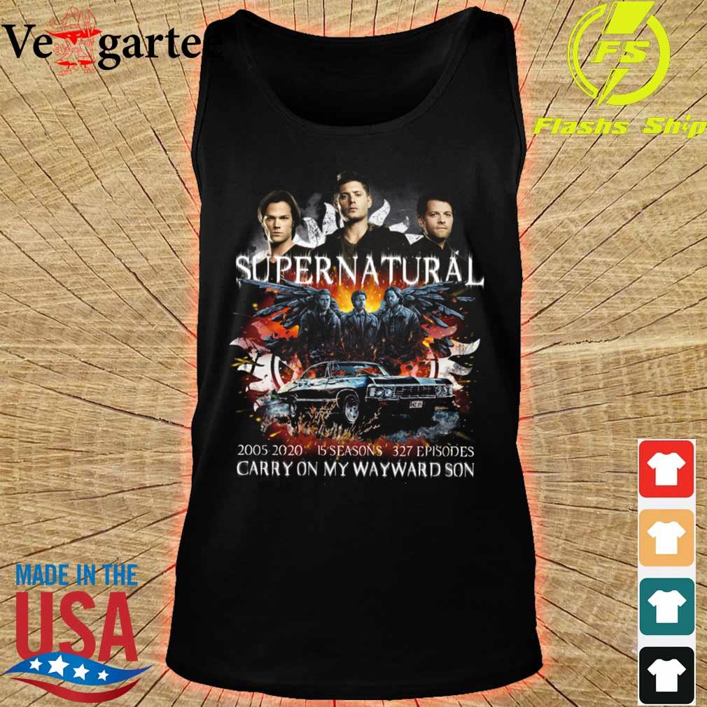 Supernatural 2005 2020 15 seasons 327 episodes carry on my wayward son s tank top