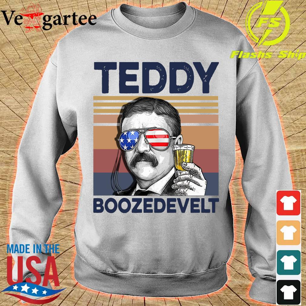 Teddy Boozedevelt Drink Beer the 4th of July vintage s sweater