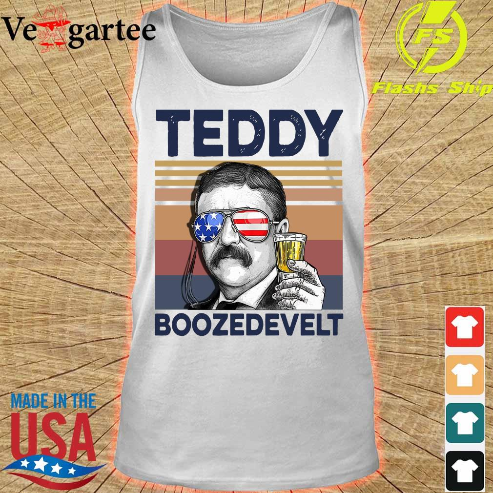 Teddy Boozedevelt Drink Beer the 4th of July vintage s tank top