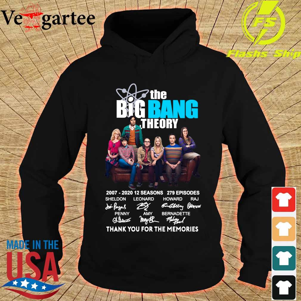 The Big Bang Theory 2007 2020 thank You for the memories signatures s hoodie