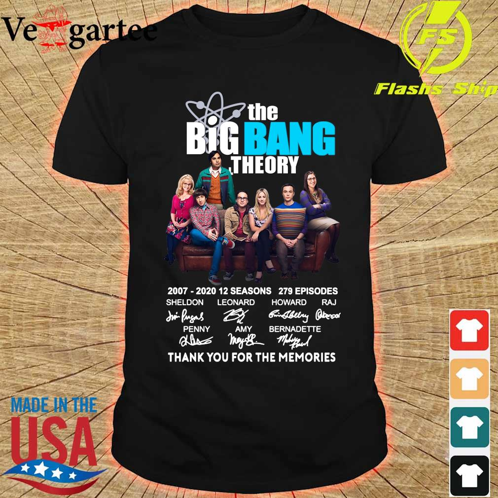 The Big Bang Theory 2007 2020 thank You for the memories signatures shirt