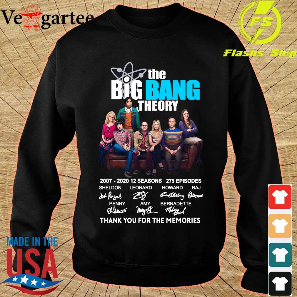 The Big Bang Theory 2007 2020 thank You for the memories signatures s sweater