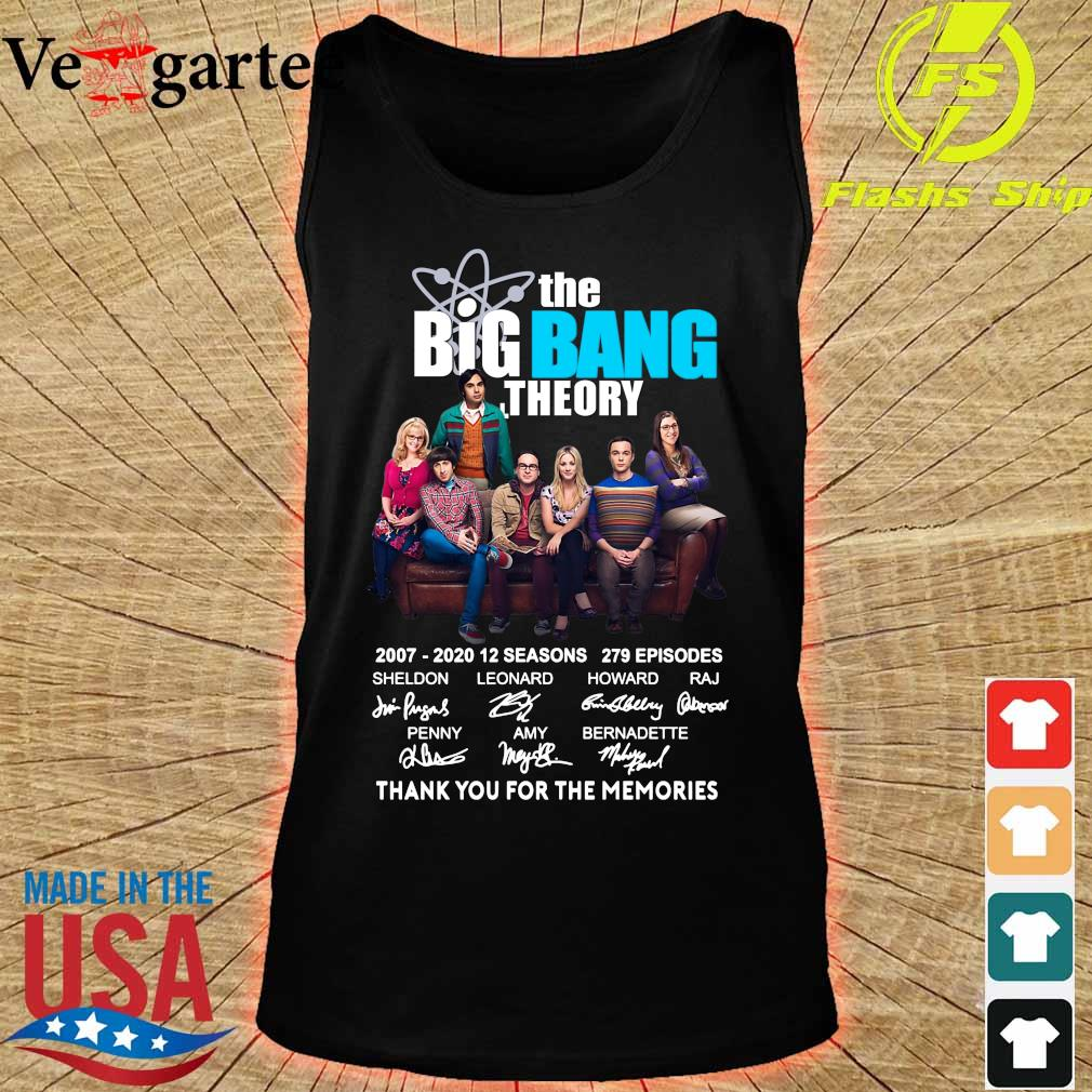 The Big Bang Theory 2007 2020 thank You for the memories signatures s tank top