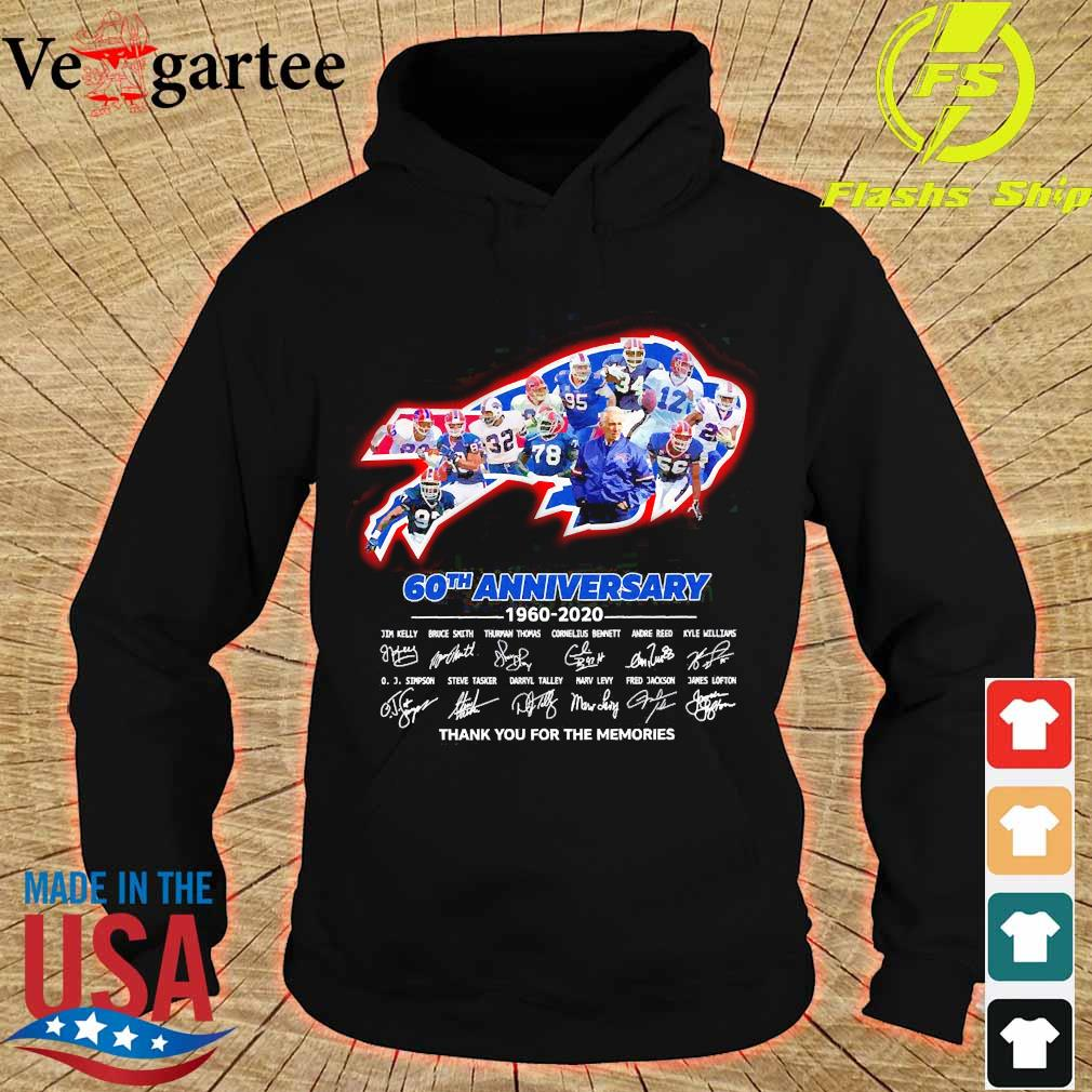The Bills 60th anniversary 1960 2020 thank You for the memories s hoodie