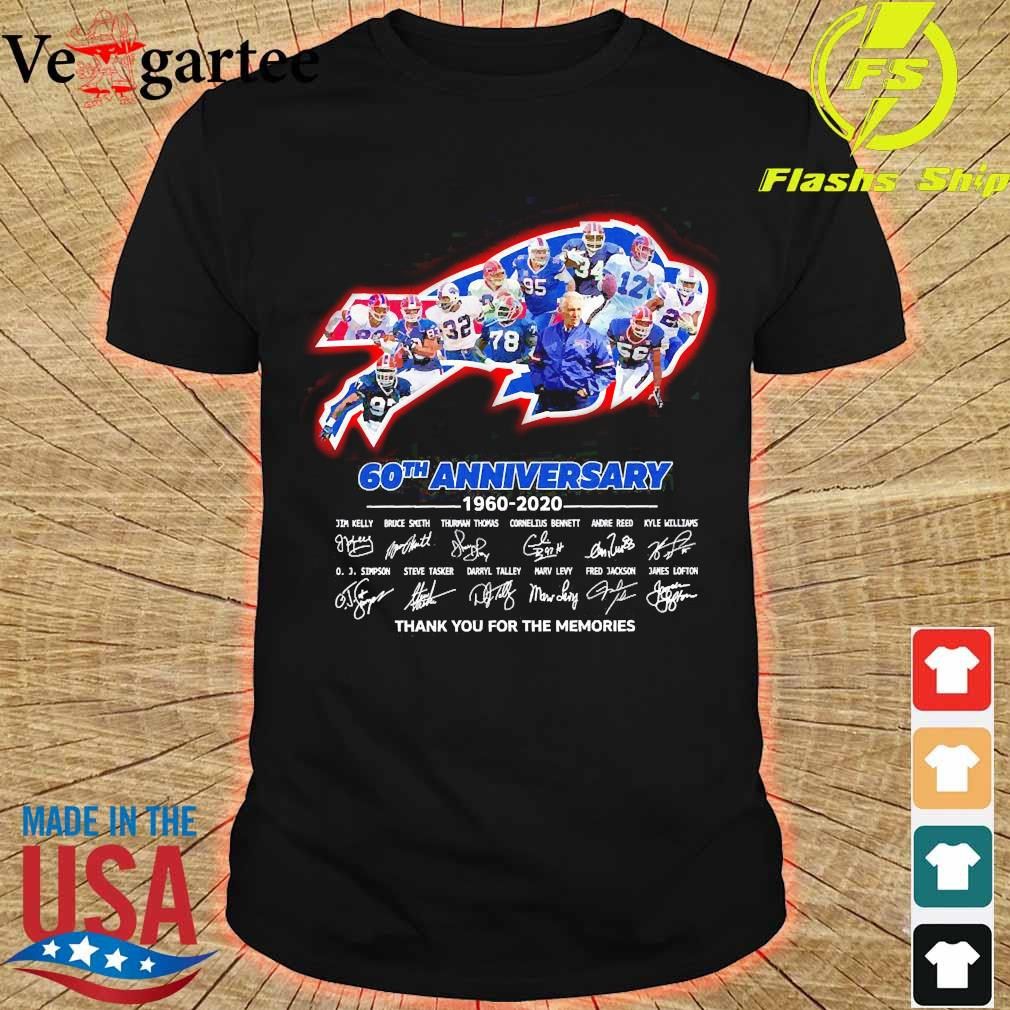 The Bills 60th anniversary 1960 2020 thank You for the memories shirt