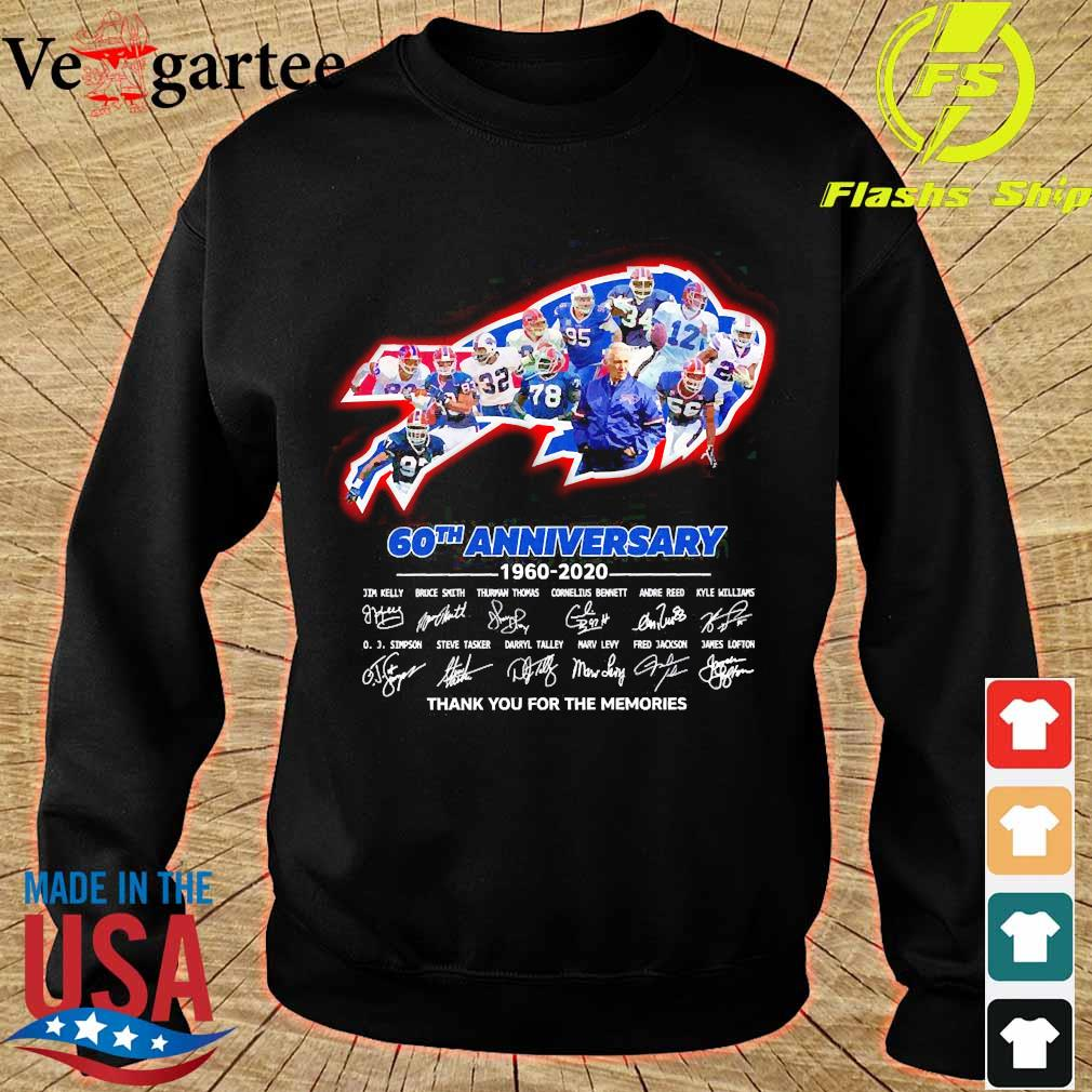 The Bills 60th anniversary 1960 2020 thank You for the memories s sweater