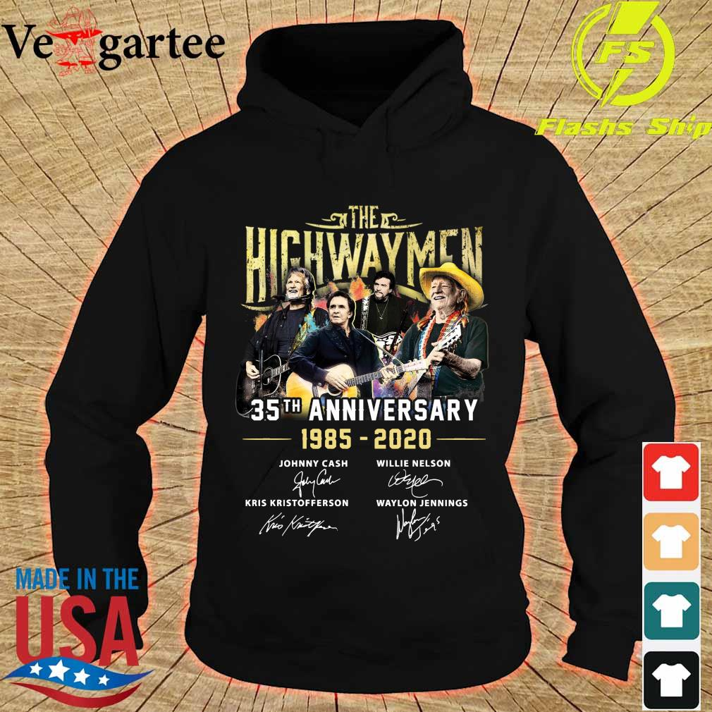 The Highwaymen 35th Anniversary 1985-2020 Signatures Shirt hoodie