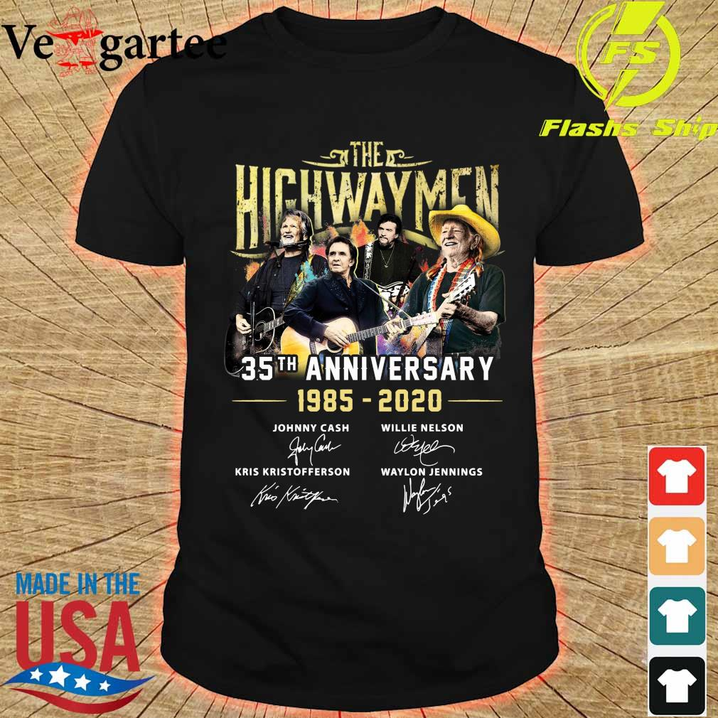 The Highwaymen 35th Anniversary 1985-2020 Signatures Shirt