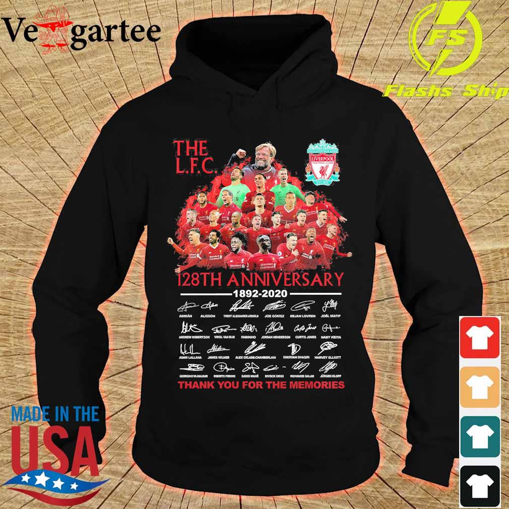 The L.F.C 128th anniversary thank You for the memories signatures Shirt hoodie