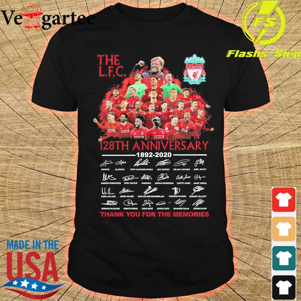 The L.F.C 128th anniversary thank You for the memories signatures Shirt