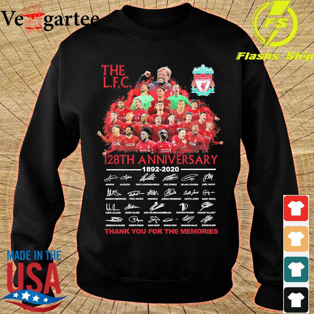 The L.F.C 128th anniversary thank You for the memories signatures Shirt sweater