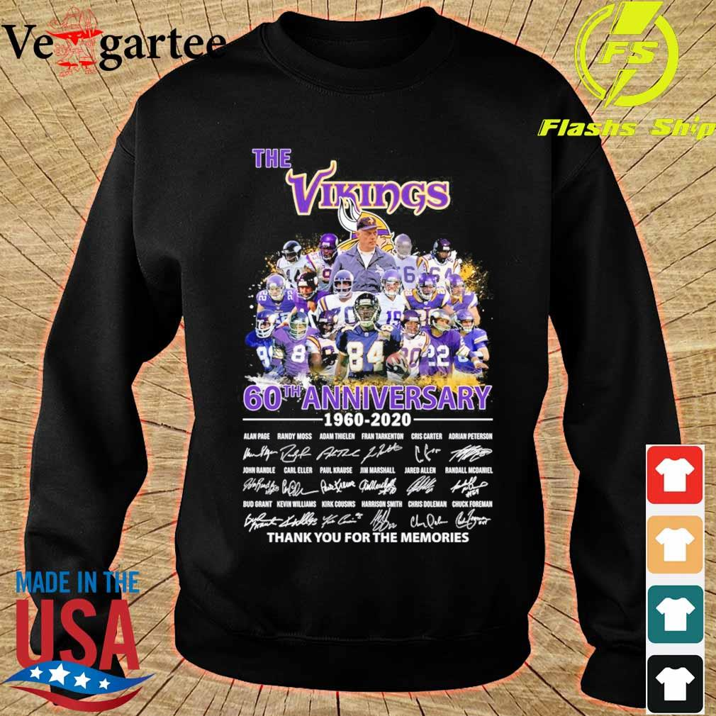 The Vikings 60th anniversary 1960 2020 thank You for the memories signatures s sweater