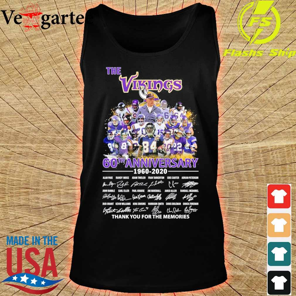 The Vikings 60th anniversary 1960 2020 thank You for the memories signatures s tank top