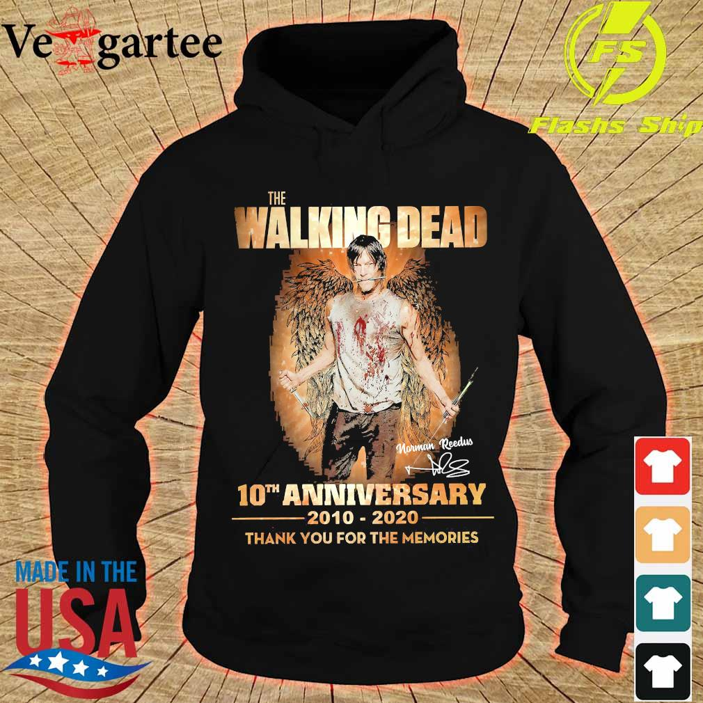 The Walking Dead 10th anniversary 2010 2020 thank You for the memories signature wings Shirt hoodie