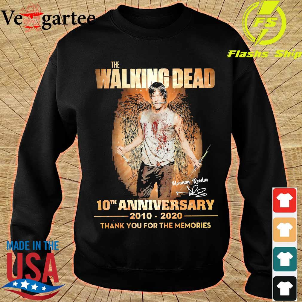 The Walking Dead 10th anniversary 2010 2020 thank You for the memories signature wings Shirt sweater