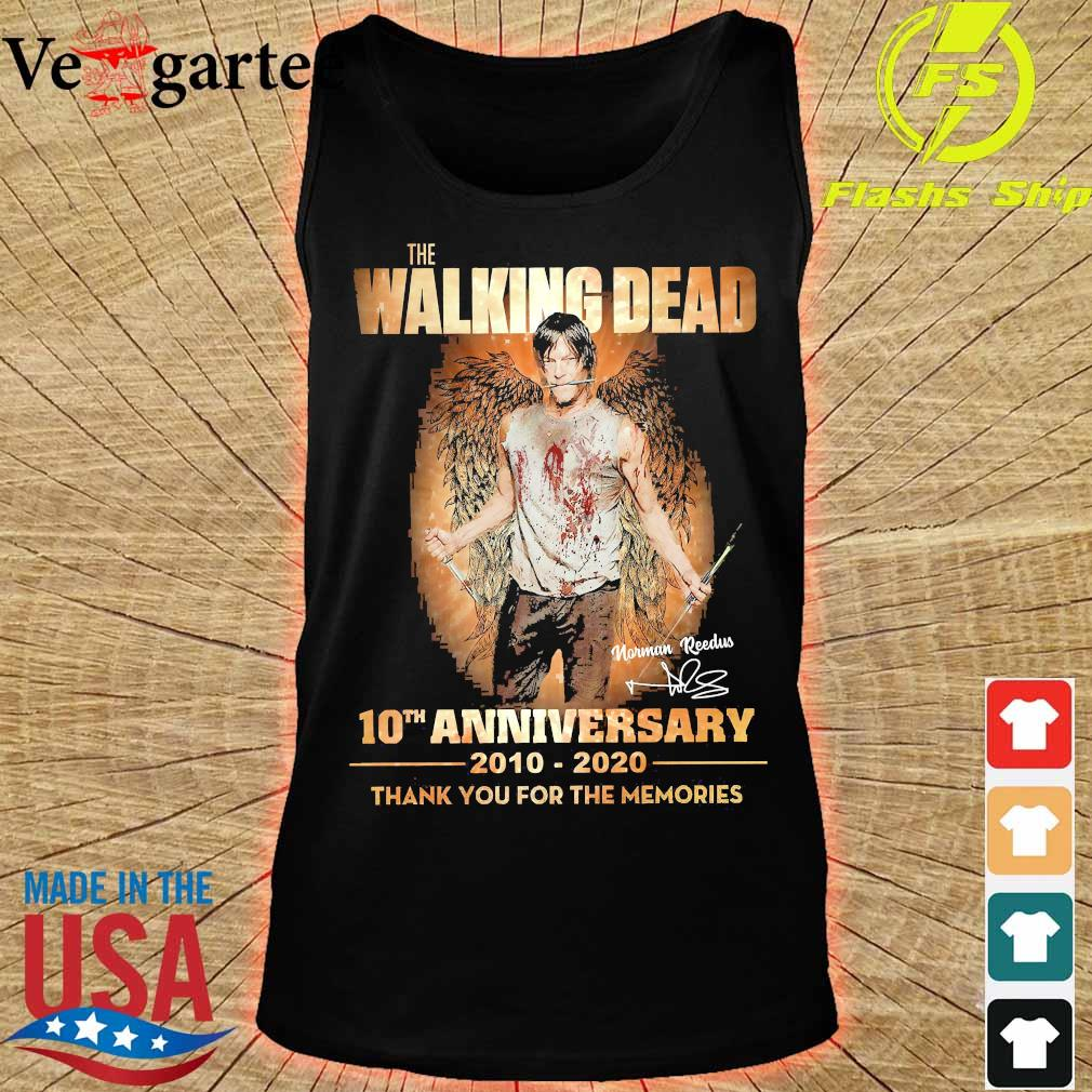 The Walking Dead 10th anniversary 2010 2020 thank You for the memories signature wings Shirt tank top
