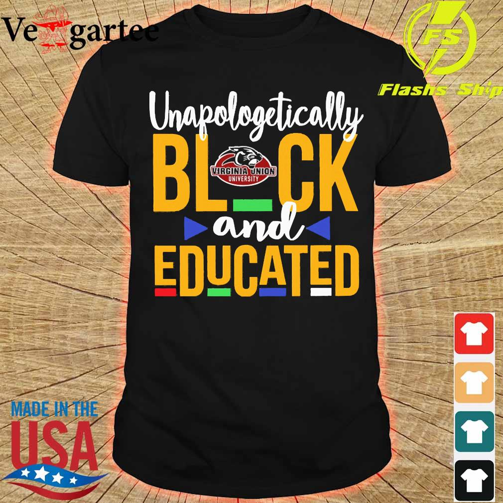 Unapologetically black Virginia Union University logo and educated shirt