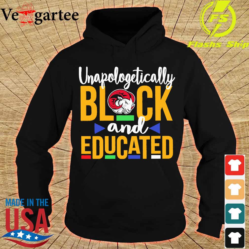 Unapologetically black Winston-Salem State University logo and educated s hoodie