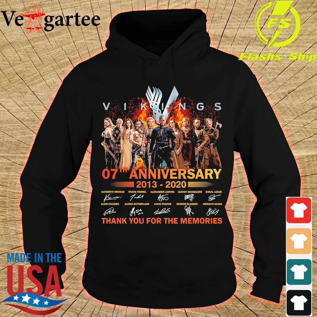 Vikings 07th anniversary 2013 2020 thank You for the memories signatures Shirt hoodie