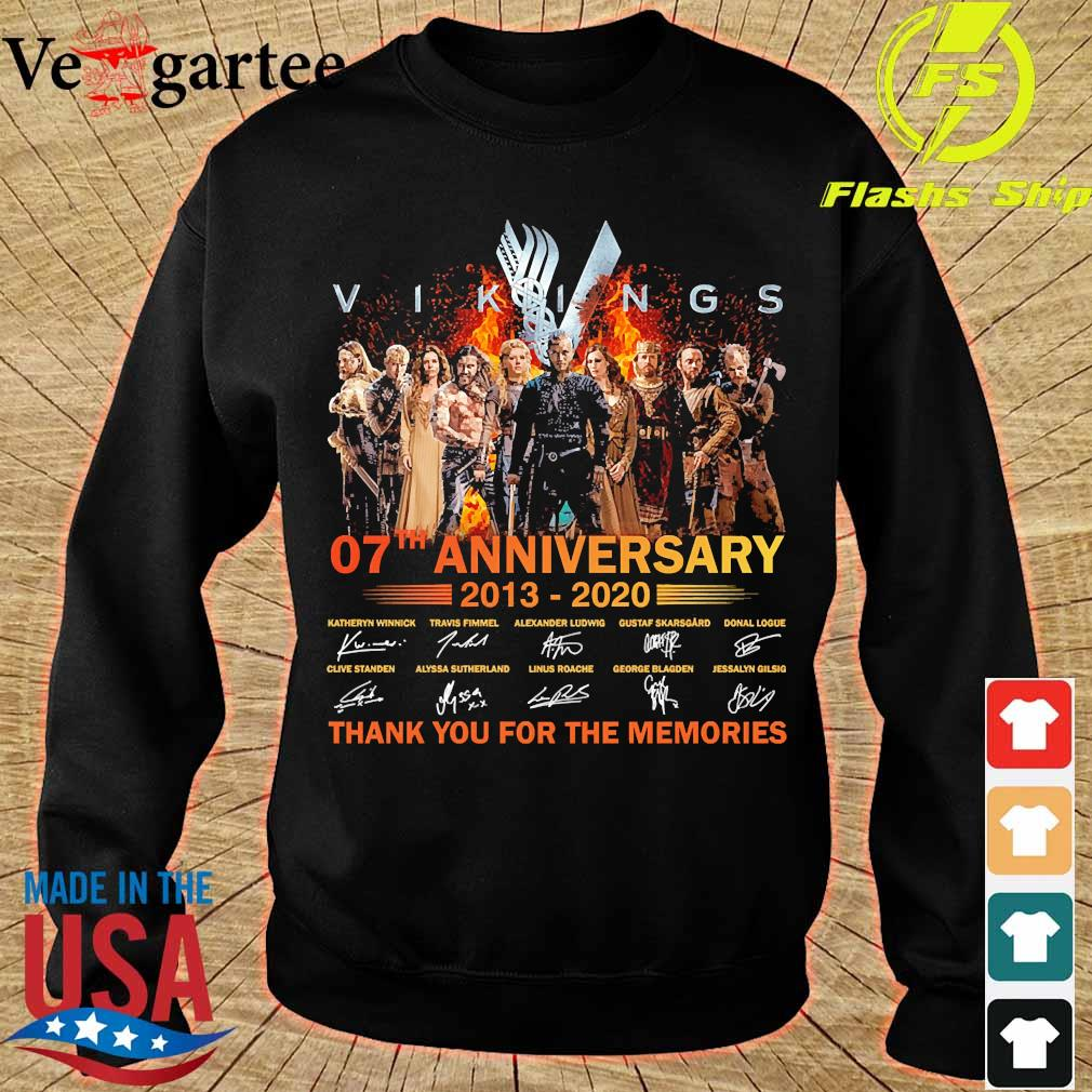 Vikings 07th anniversary 2013 2020 thank You for the memories signatures Shirt sweater