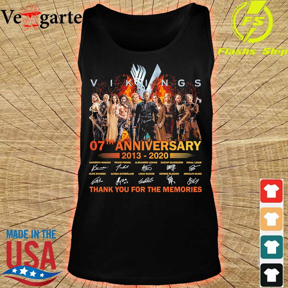 Vikings 07th anniversary 2013 2020 thank You for the memories signatures Shirt tank top