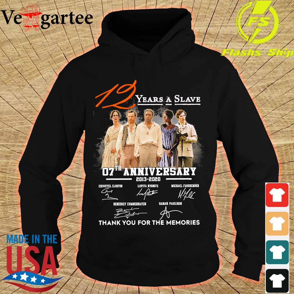 12 Years a Slave 07th anniversary 2013 2020 thank You for the memories signatures s hoodie