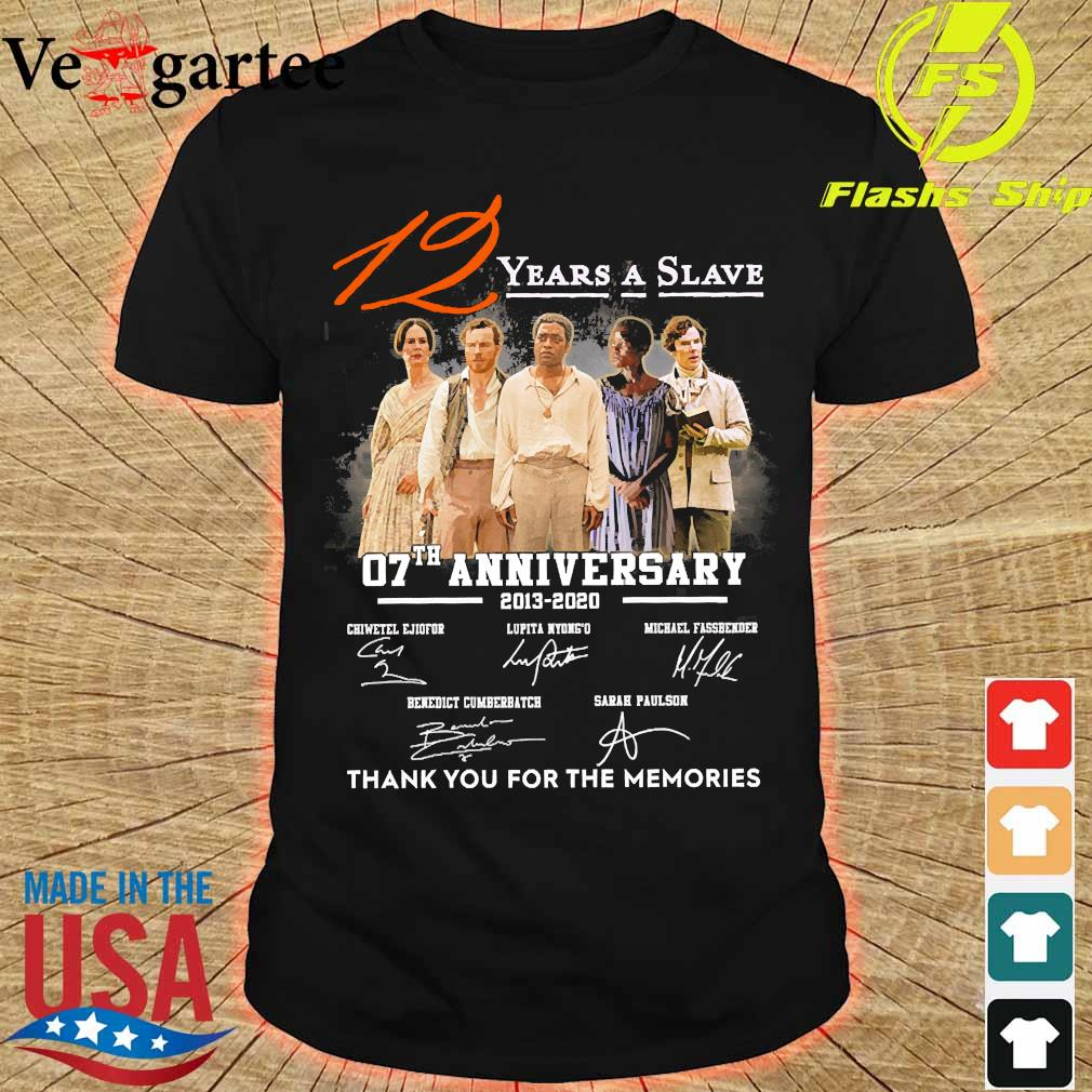 12 Years a Slave 07th anniversary 2013 2020 thank You for the memories signatures shirt