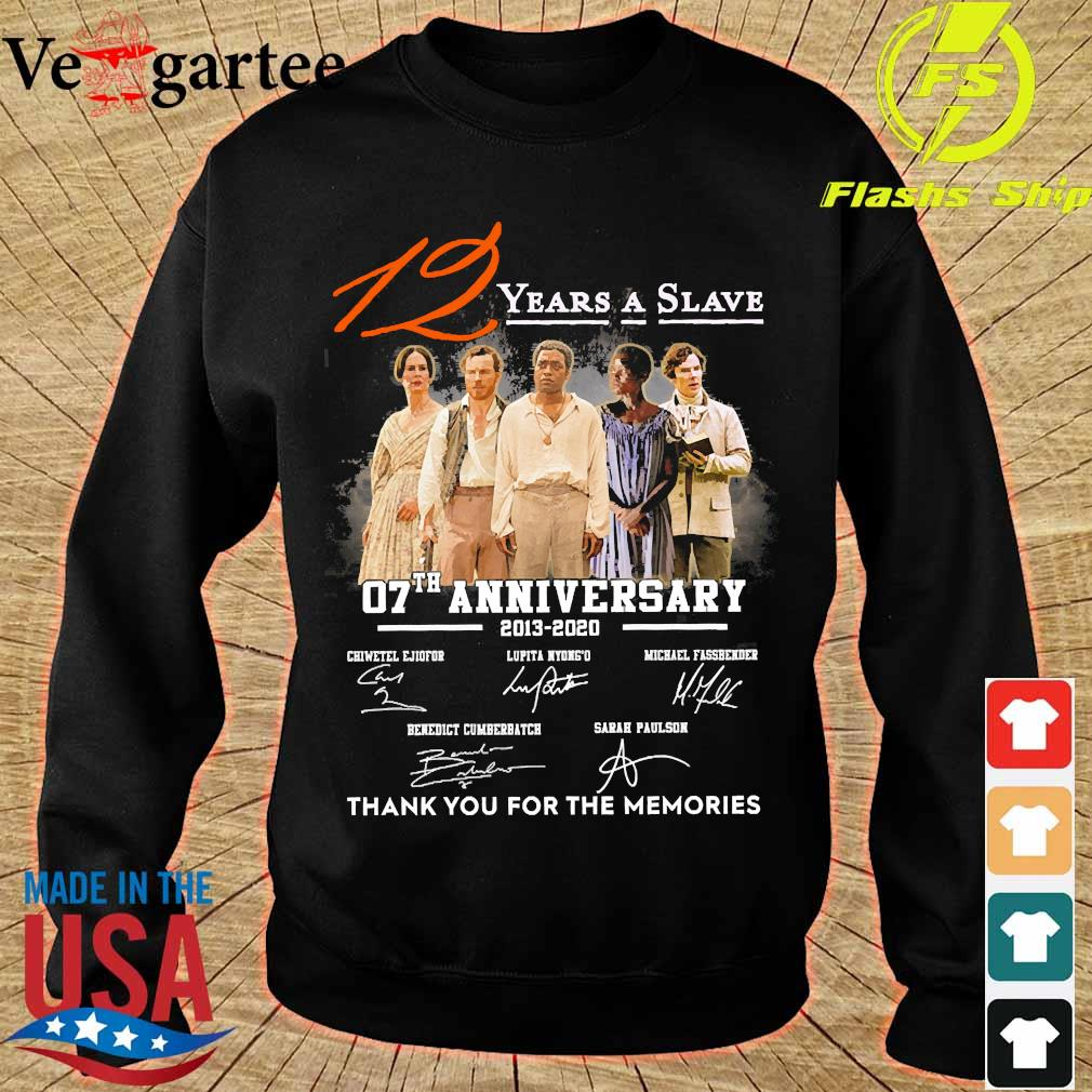12 Years a Slave 07th anniversary 2013 2020 thank You for the memories signatures s sweater