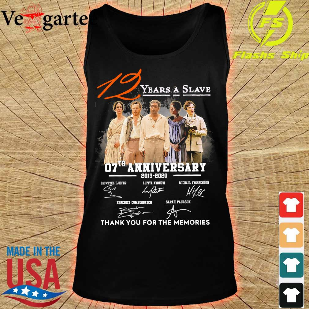 12 Years a Slave 07th anniversary 2013 2020 thank You for the memories signatures s tank top