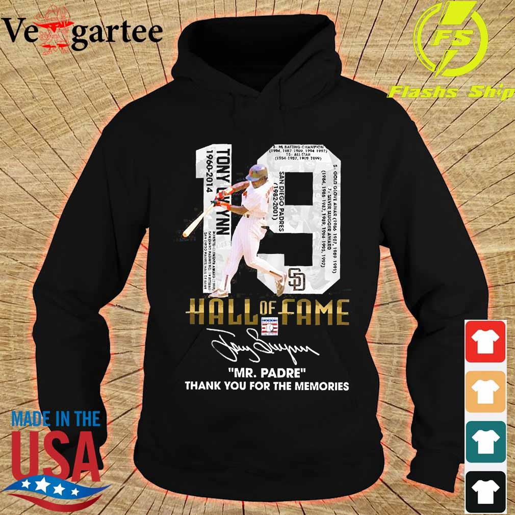 19 Hall of Fame Mr Padre thank You for the memories signature s hoodie