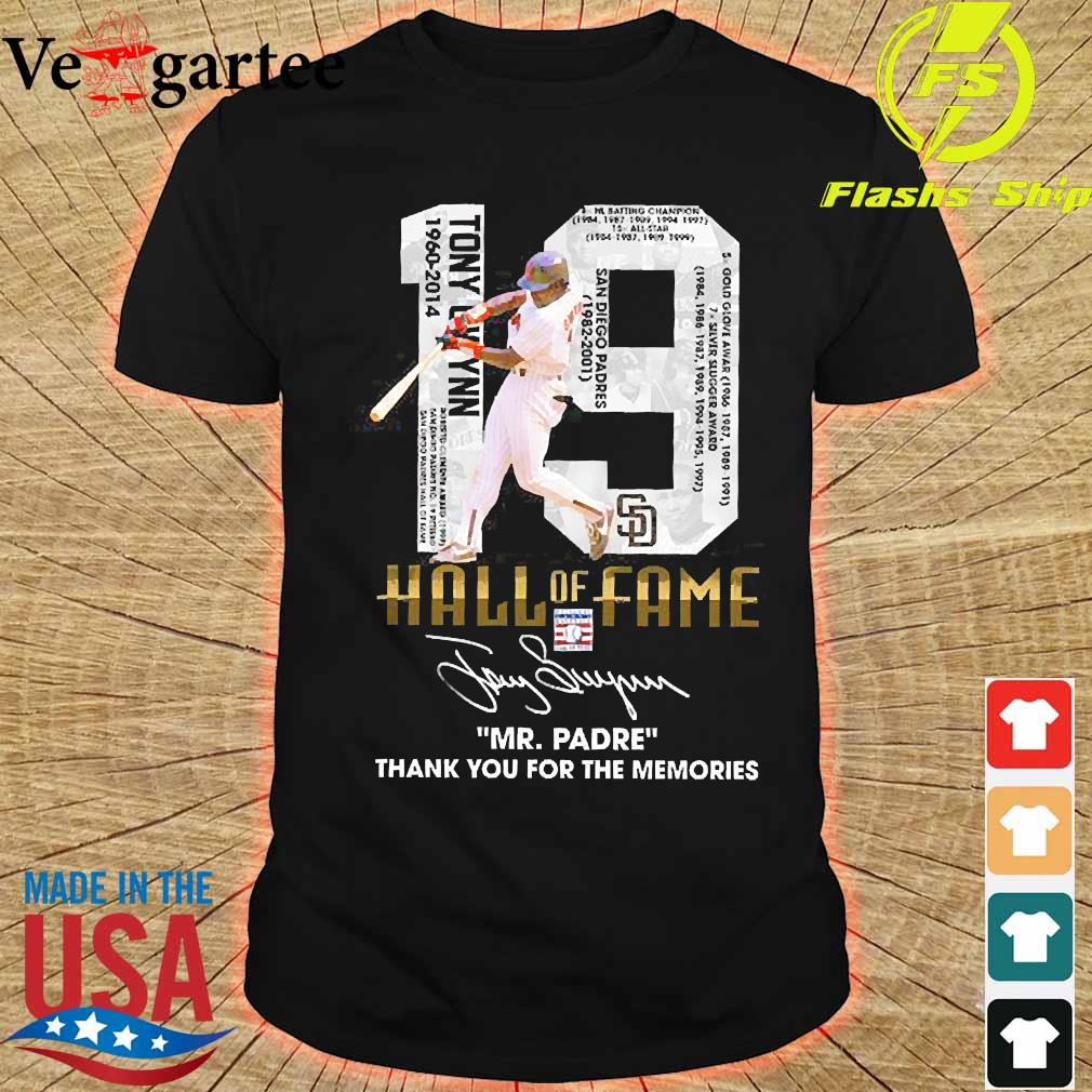 19 Hall of Fame Mr Padre thank You for the memories signature shirt