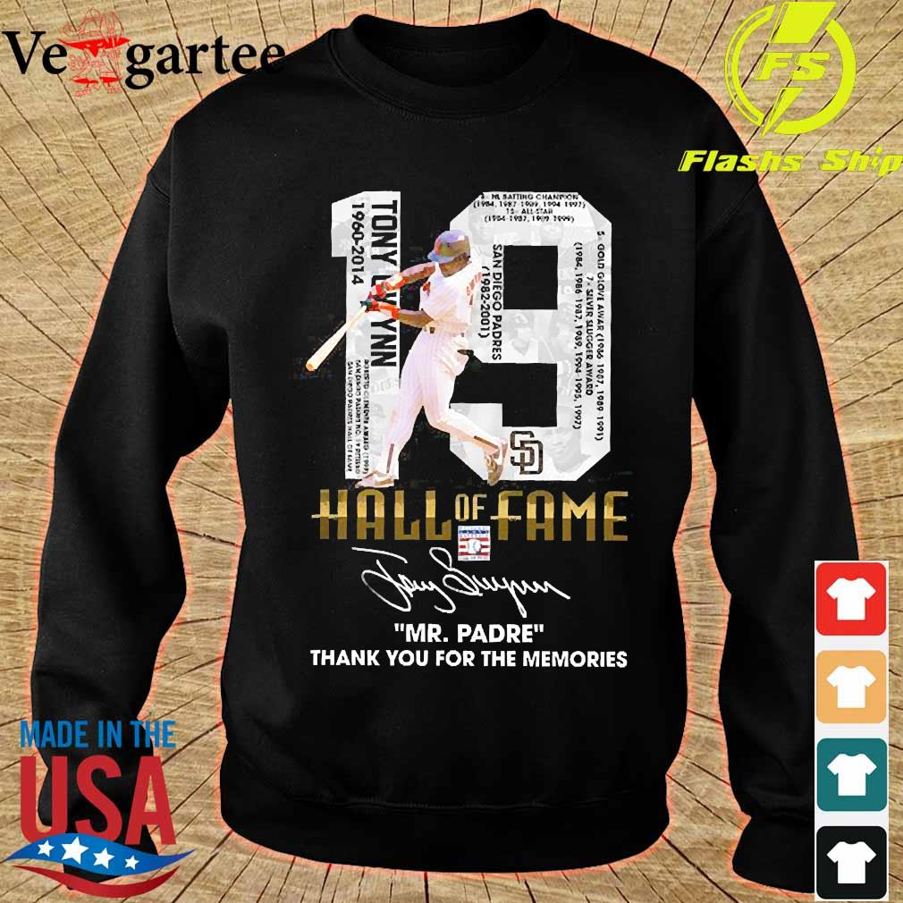 19 Hall of Fame Mr Padre thank You for the memories signature s sweater