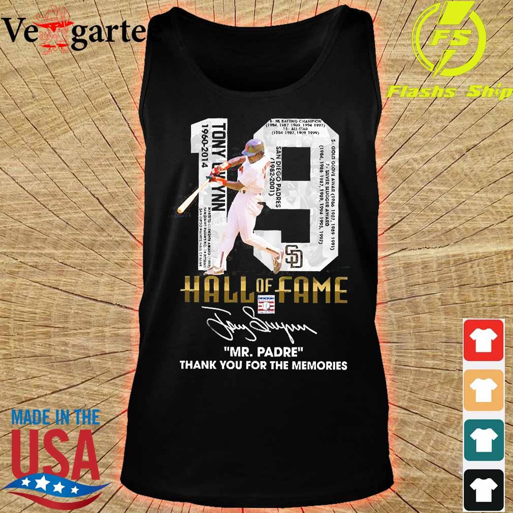 19 Hall of Fame Mr Padre thank You for the memories signature s tank top