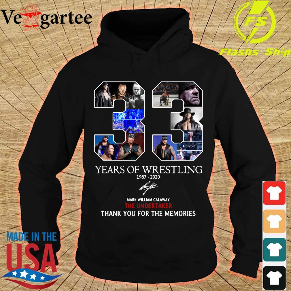 33 Years of Wrestling 1987 2020 thank You for the memories signature s hoodie