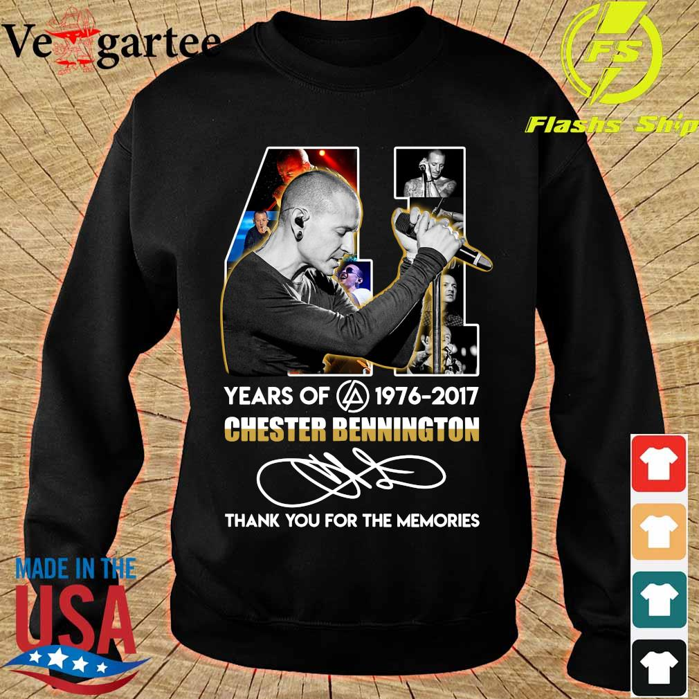 41 Years of Chester Bennington 1976 2017 thank You for the memories signature s sweater
