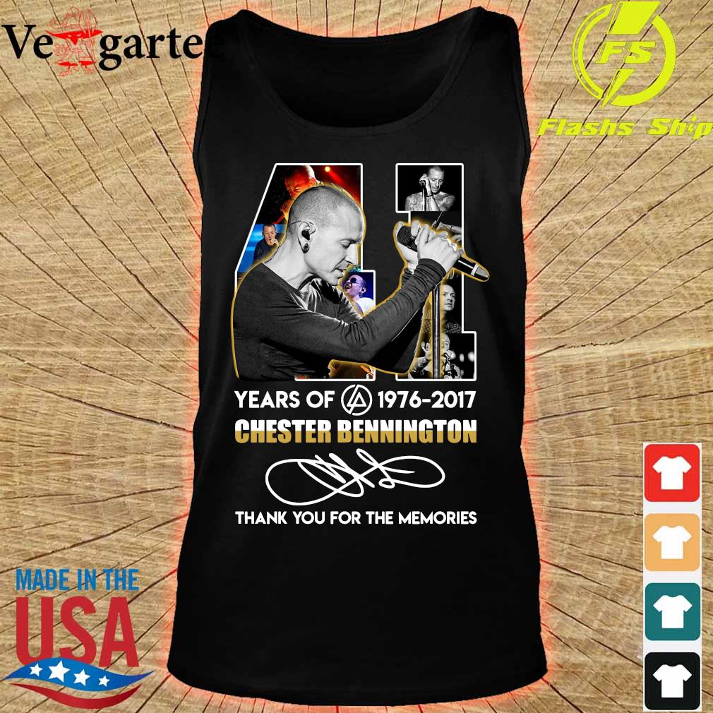 41 Years of Chester Bennington 1976 2017 thank You for the memories signature s tank top