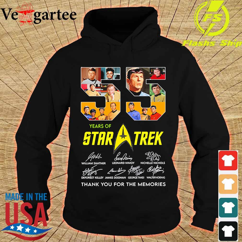 55 Years of Star Trek thank You for the memories signatures s hoodie