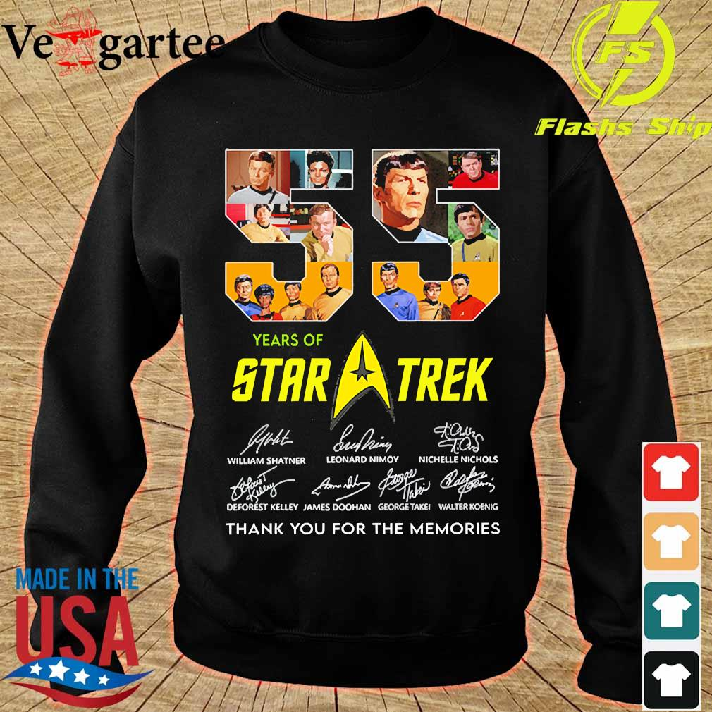 55 Years of Star Trek thank You for the memories signatures s sweater