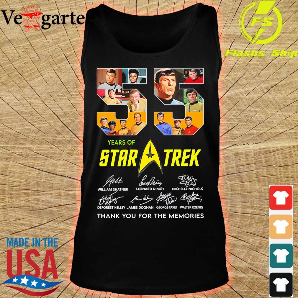 55 Years of Star Trek thank You for the memories signatures s tank top