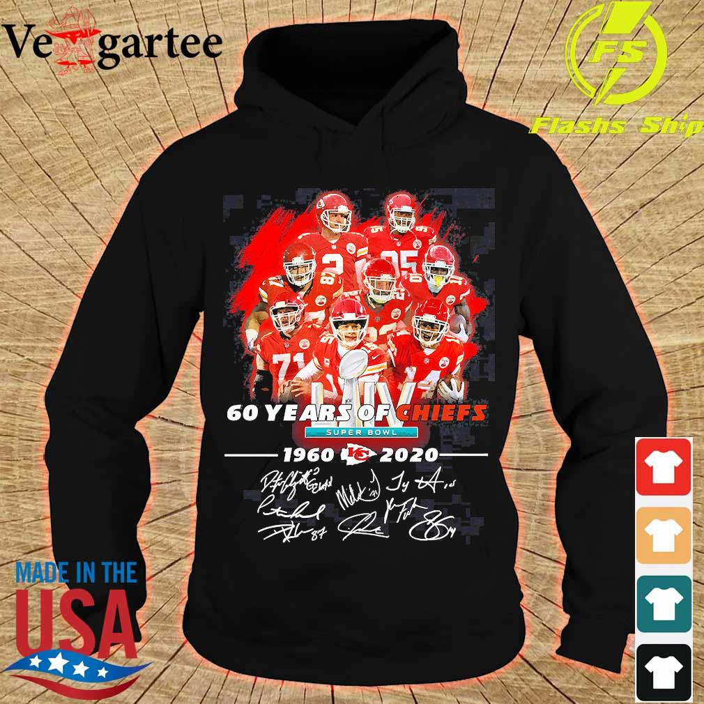 60 Years of Chiefs 1960 2020 signatures s hoodie