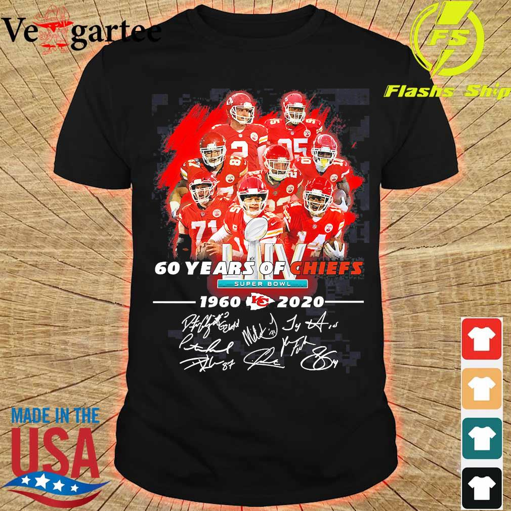 60 Years of Chiefs 1960 2020 signatures shirt