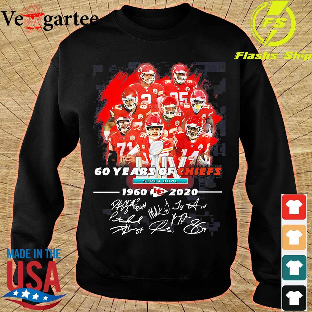 60 Years of Chiefs 1960 2020 signatures s sweater