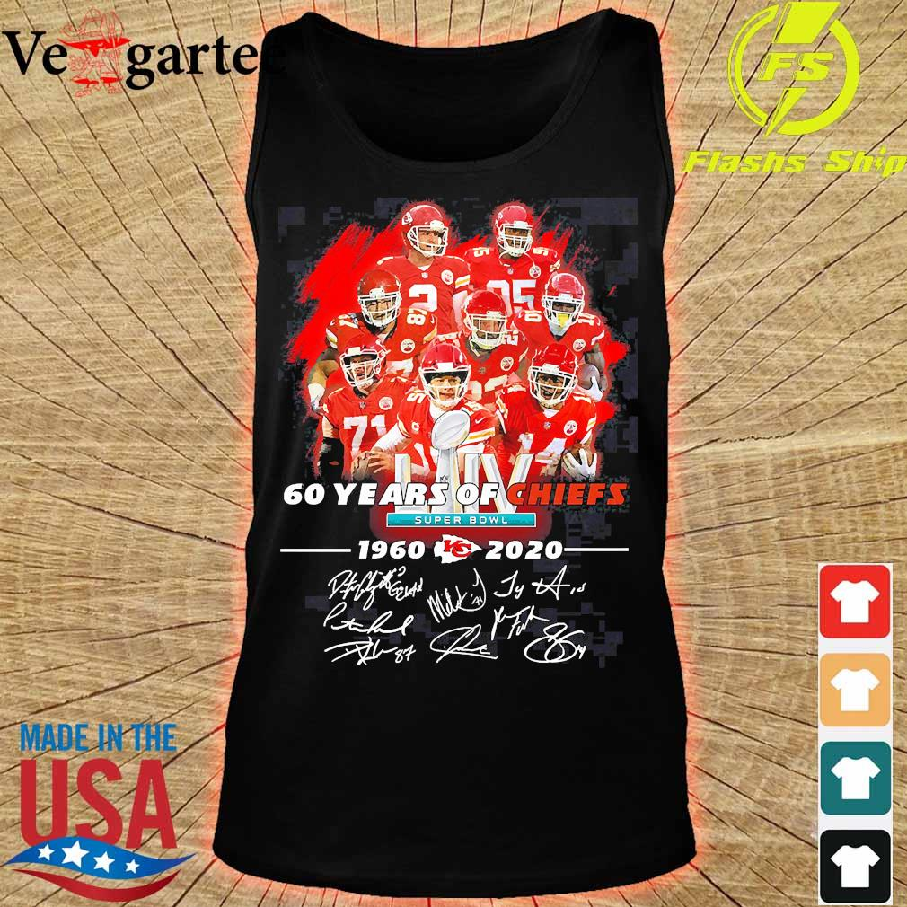60 Years of Chiefs 1960 2020 signatures s tank top