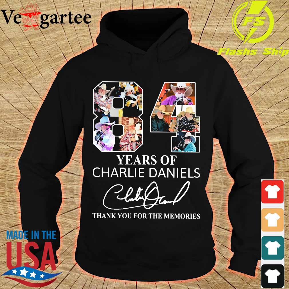 84 Years of Charlie Daniels thank You for the memories signature s hoodie