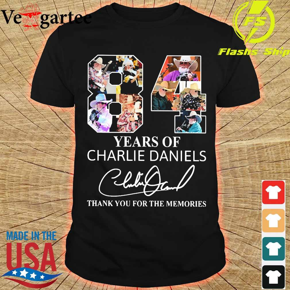 84 Years of Charlie Daniels thank You for the memories signature shirt
