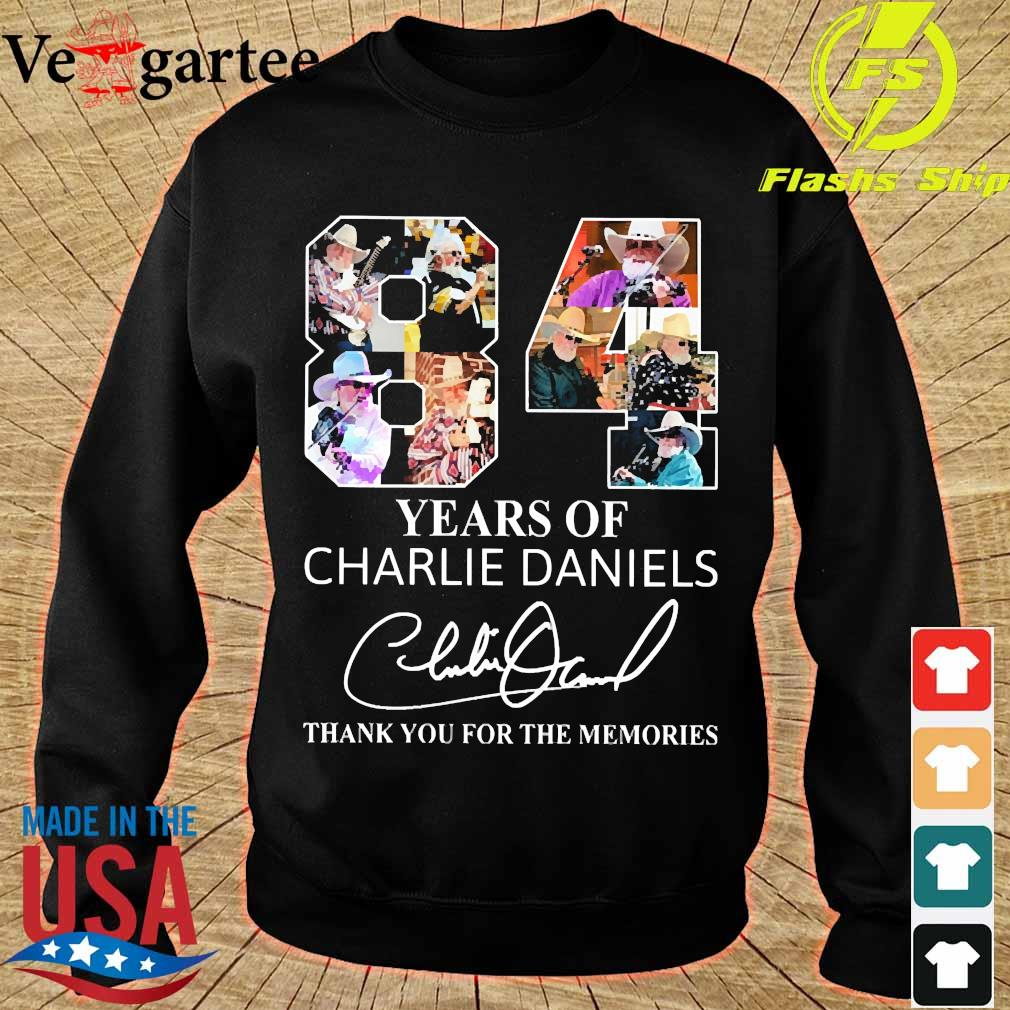 84 Years of Charlie Daniels thank You for the memories signature s sweater